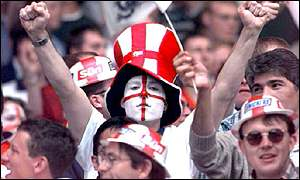 England fans at Euro 96