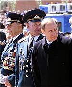 President Putin with WWII veterans