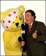 Pudsey, right, Wogan, left