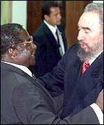 Mugabe with Castro