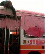 Bus painted pink