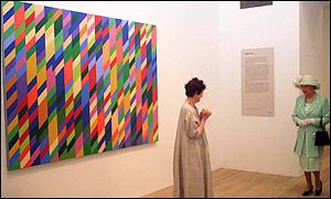 Queen and artist Bridget Riley