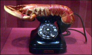 Salvador Dali's Lobster Telephone at Tate Modern