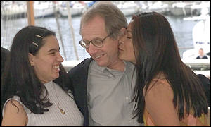 Ken Loach with Ephida Carrillo and Pilar Padilla