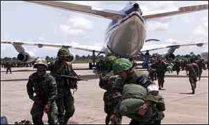 Jordanian troops arriving in Sierra Leone