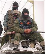 Russian soldiers in Chechnya