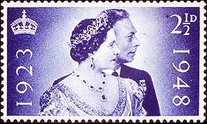 Stamp of Quuen Mother of King George VI