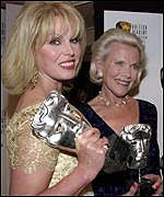 Joanna Lumley and Honor Blackman