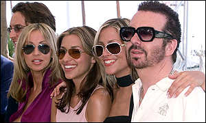 Natalie Appleton, Melanie Blatt, Nicole Appleton and Dave Stewart pose in Cannes