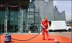 A cleaner in Cologne