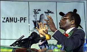 President Mugabe on campaign trail