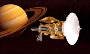 Saturn and spacecraft