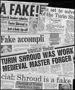 [ image: In 1988 the shroud was revealed as a fake]