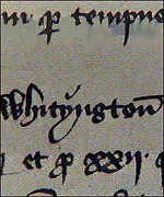 Whittington's name appearing in the King's accounts
