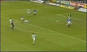 image: [ Jorg Albertz, who was at the centre of everything for Rangers, made it 2-0 in the 66th minute ]