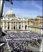 st peter's square rooftop view