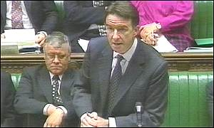 Northern Ireland Secretary Peter Mandelson