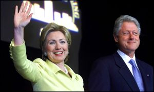 President and Mrs Clinton