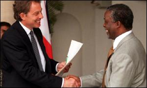 Blair meets Mbeki