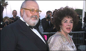 Dame Elizabeth Tayor with Gianfranco Ferre at Cannes