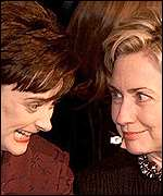 Cherie Blair and Hillary Clinton