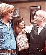 Tony Booth, Una Stubbs and Warren Mitchell
