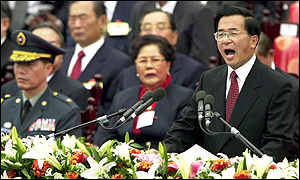 Chen's speech was vague and evasive, China said