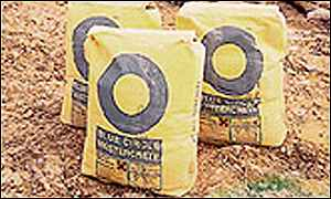 Blue Circle cement bags