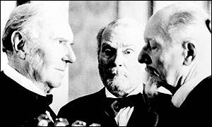 Ralph Richardson, Laurence Olivier and John Gielgud