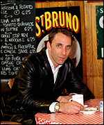 Will Self in a cafe