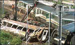 Last year's fatal train crash in west London