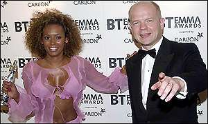 Mel B and William Hague