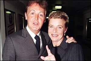 Sir Paul and Linda McCartney in 1998