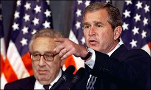 Henry Kissinger and George W Bush