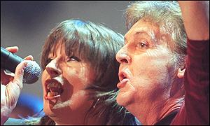 Chrissie Hynde and Sir Paul McCartney