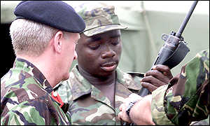 British advisor with Sierra Leone officer