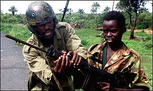 Sierra Leonean child soldier
