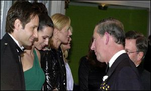 Duchovny, Minnie Driver, Joely Richardson, Prince Charles