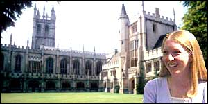 Magdalen College and Laura Spence montage