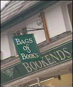 Bookends book shop sign