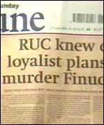 Sunday Tribune report on Finucane murder