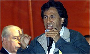 Alejandro Toledo during the rally