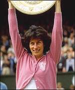 Virginia Wade, the last British woman to lift the trophy