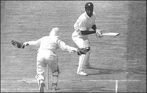 Viv Richards is bowled