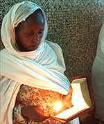 Eritrean woman praying