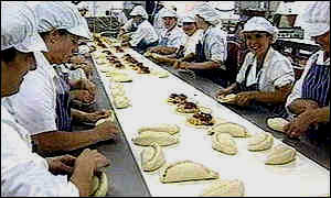 Pasty makers at work