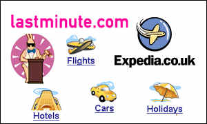 Expedia and lastminute logos