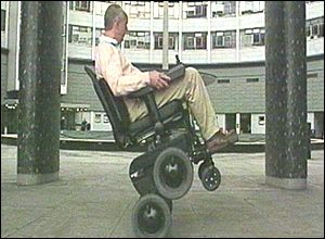 wheelchair in action