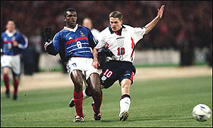 Marcel Desailly and Michael Owen