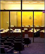 Courtroom at Lockerbie trial